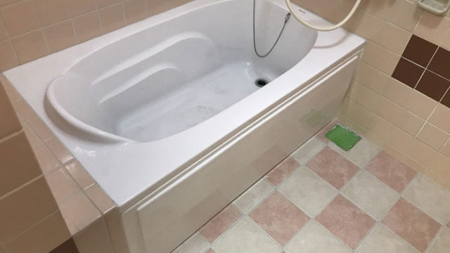 浴槽取替と床タイル張替