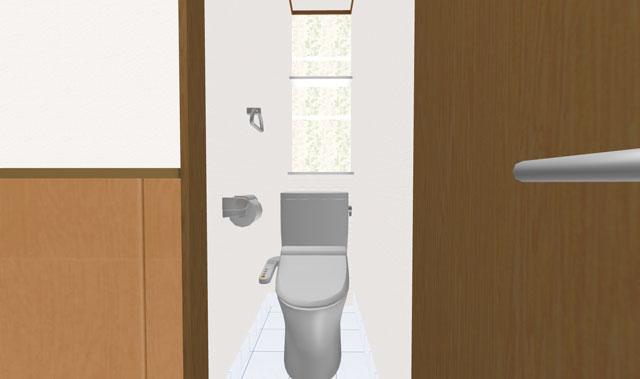 トイレの3Dイメージ
