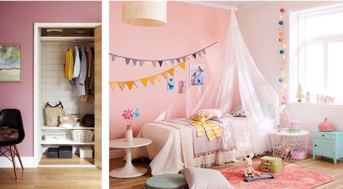 ピンクのあるお部屋