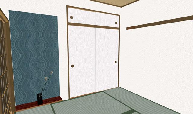 和室の3Dイメージ