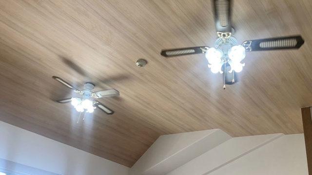 勾配天井壁紙張替