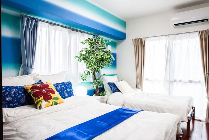 民泊リフォーム寝室
