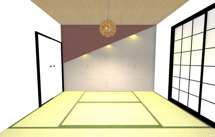 3Dパースイメージ和室