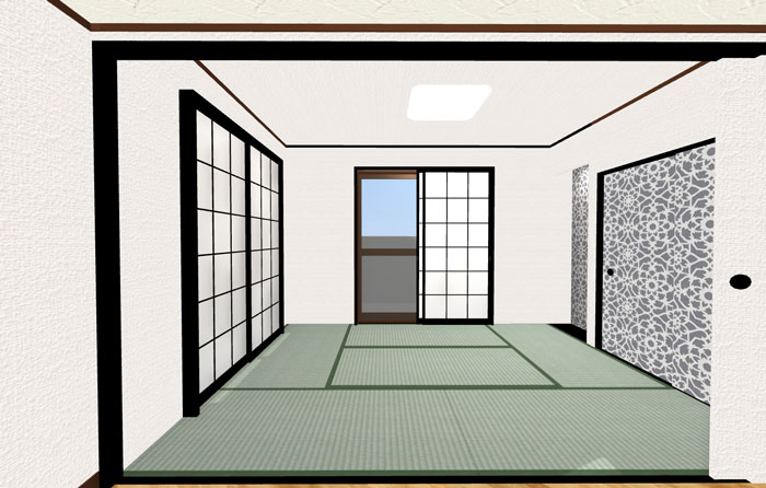 3Dパース和室