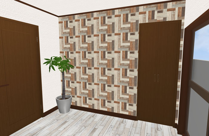 3Dパース洋室